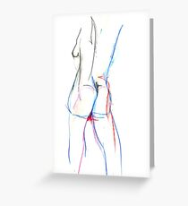 Irena in colured watercolour pencil (study) Greeting Card