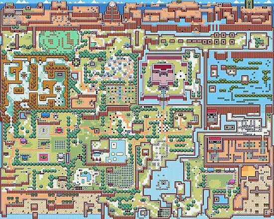 Legend Of Zelda Link S Awakening Map Photographic Print By Ragsmaroon