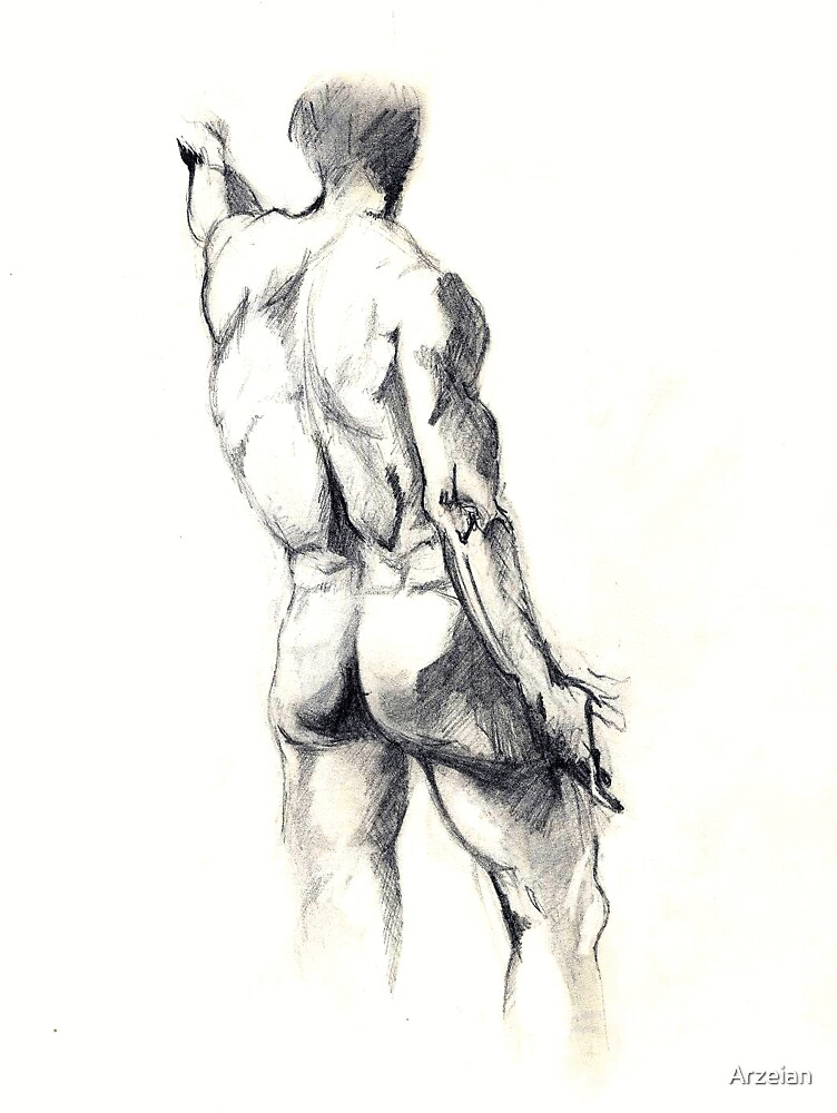 male life study by Arzeian