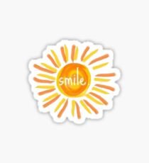 smile sunshine Sticker