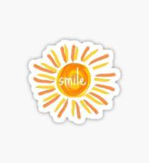 Pegatina sonrisa sol
