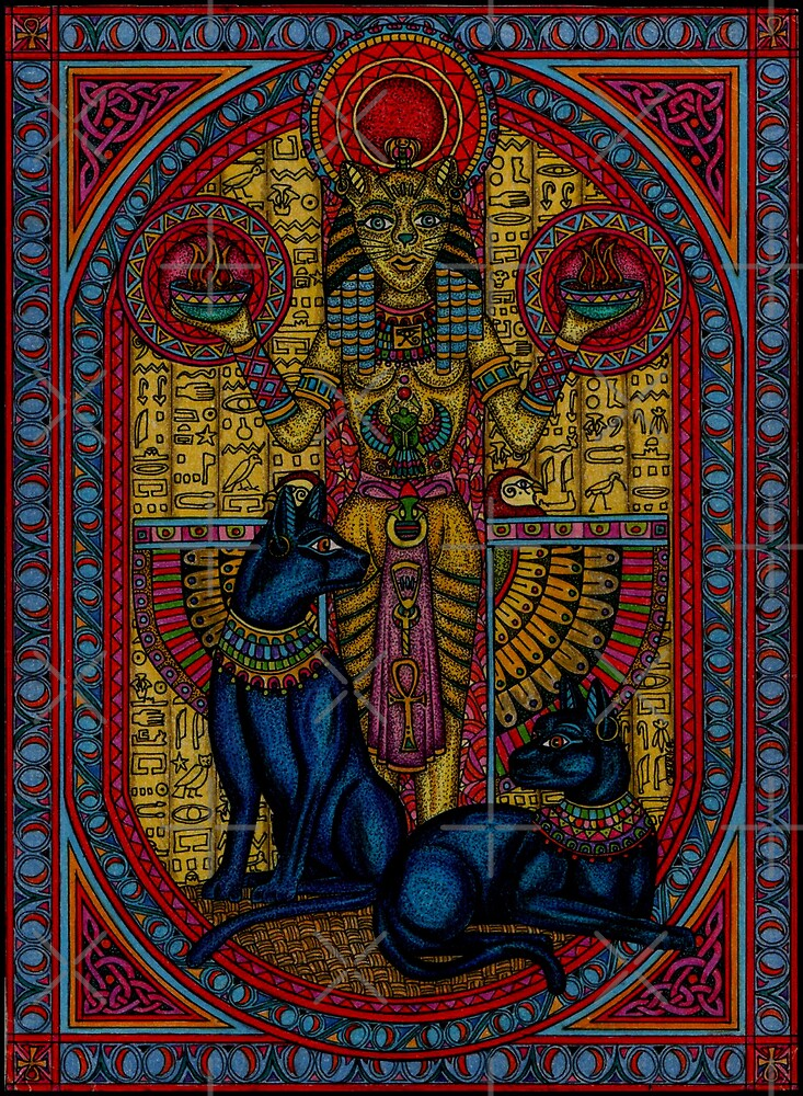 """bastet, bast the cat goddess"" by CherrieB"