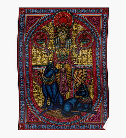 bastet, bast the cat goddess Poster