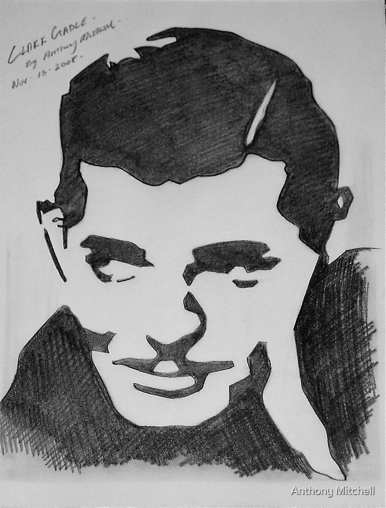 Clark Gable  by Anthony Mitchell