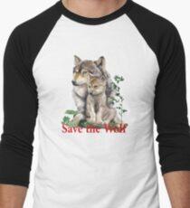 Save the Wolf Baseballshirt für Männer