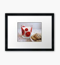 Milk and Cookies 70s Style Framed Print