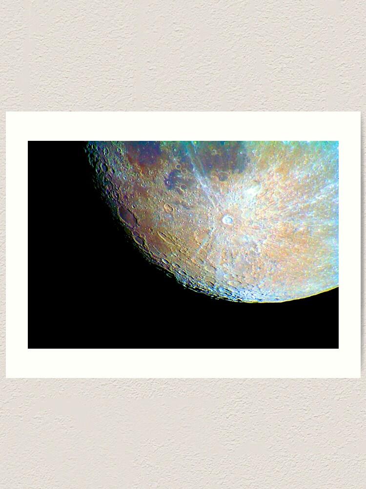 Alternate view of lunar south region Art Print
