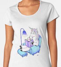 Reading unicorn Women's Premium T-Shirt