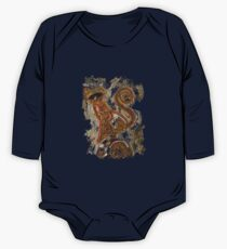 CRAZY STEAMPUNK CAT Long Sleeve Baby One-Piece