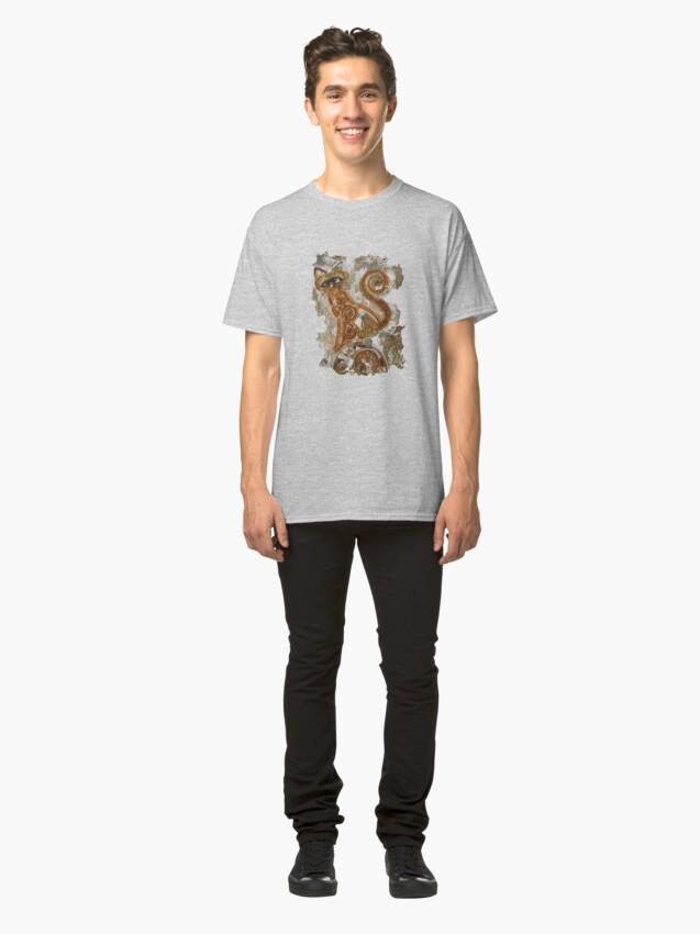 Alternate view of CRAZY STEAMPUNK CAT Classic T-Shirt