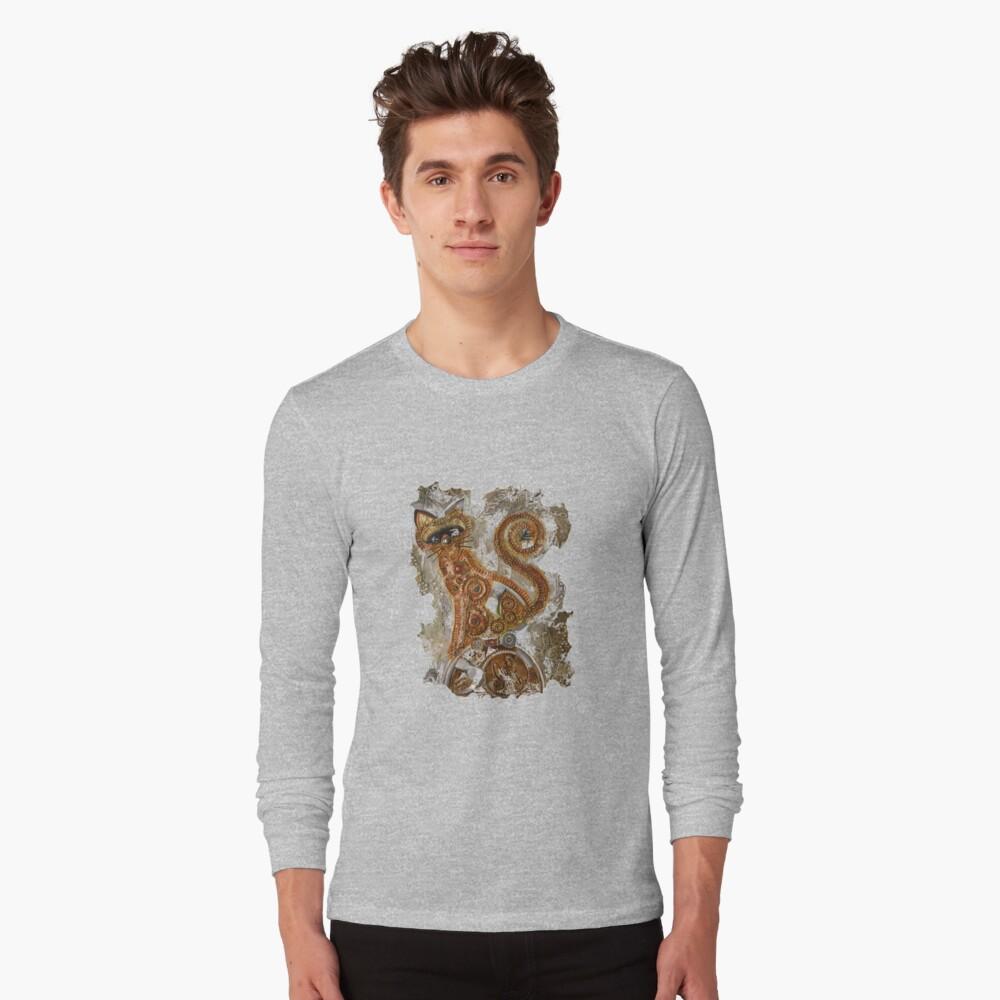 CRAZY STEAMPUNK CAT Long Sleeve T-Shirt