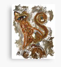 CRAZY STEAMPUNK CAT Canvas Print