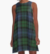 Black Watch Ancient  Original Scottish Tartan A-Line Dress