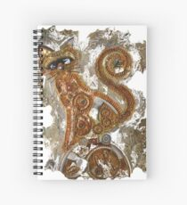 CRAZY STEAMPUNK CAT Spiral Notebook