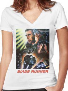 Blade Runner Movie Shirt! Women's Fitted V-Neck T-Shirt