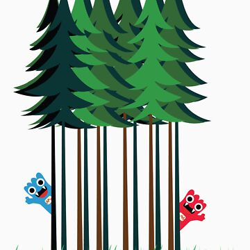 Zarkey Forest Tee by quirkyworld