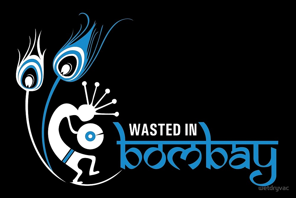 Wasted In Bombay - Blue Logo Promo by wetdryvac