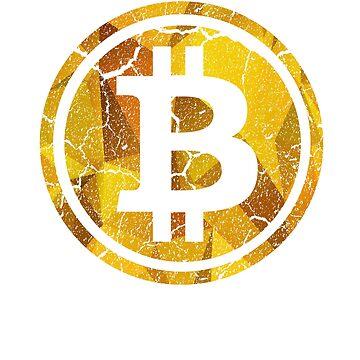 Vintage Bitcoin Logo by cooplar36