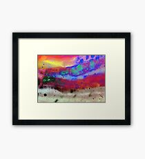 Kraft Paper Colorful Abstract Framed Print