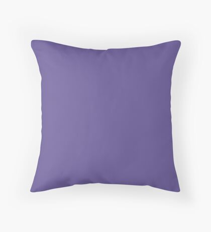 Ultra Violet | Pantone Fashion Color of the Year 2018 | New York and London | Solid Color Throw Pillow