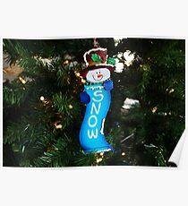A Long Snow Ornament- horizontal Poster