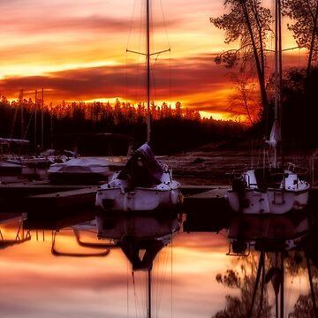 Whiskey Sunrise Whiskeytown Lake Oak Bottom Marina by MarniePatchett
