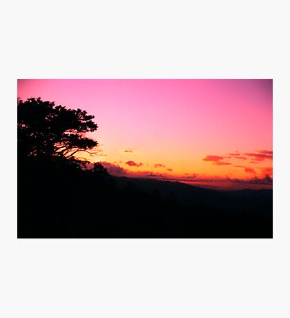 Atardecer, Sunset in the Central Valley - Costa Rica Photographic Print