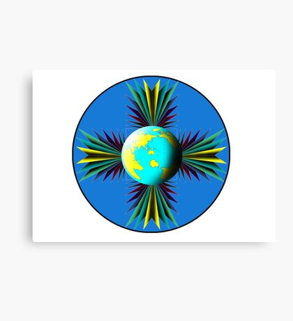 Earth Logo for Sale Canvas Print