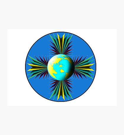Earth Logo for Sale Photographic Print