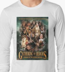 Gathering of Heroes Green Poster Long Sleeve T-Shirt