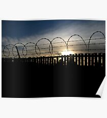 """"""" Barb Wire Sunset """" Poster"""