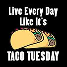 Live Every Day Like It's Taco Tuesday by Lindsay McCart