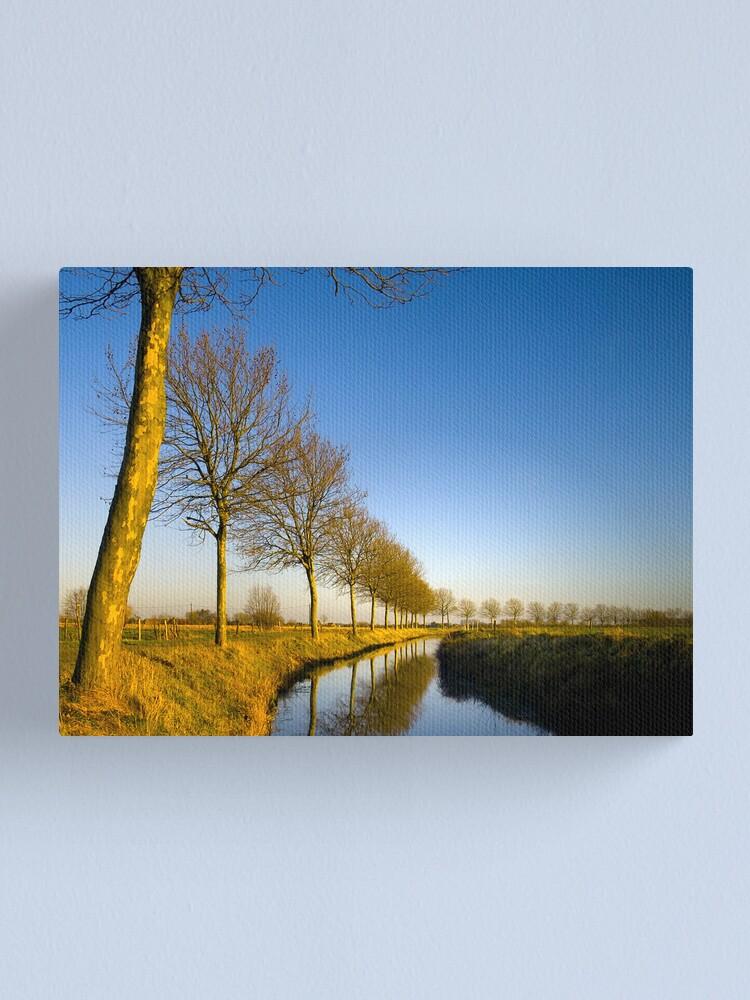 Alternate view of De Lieve, Lovendegem Canvas Print
