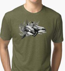 Camiseta de tejido mixto Orcas de Noruega