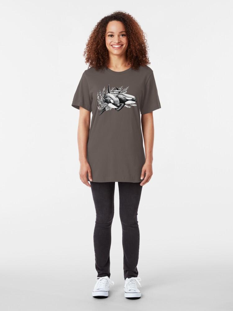 Vista alternativa de Camiseta ajustada Orcas de Noruega