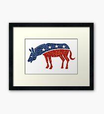 glitter democrat donkey Framed Print
