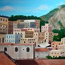 Capri roof tops by Carole Russell