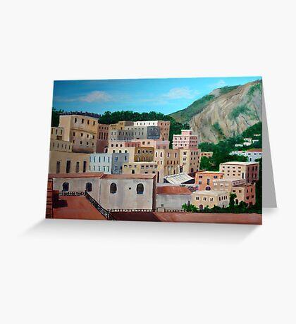 Capri roof tops Greeting Card