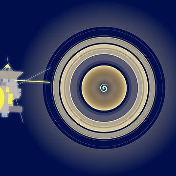 Cassini, meet Saturn by GaffaMondo