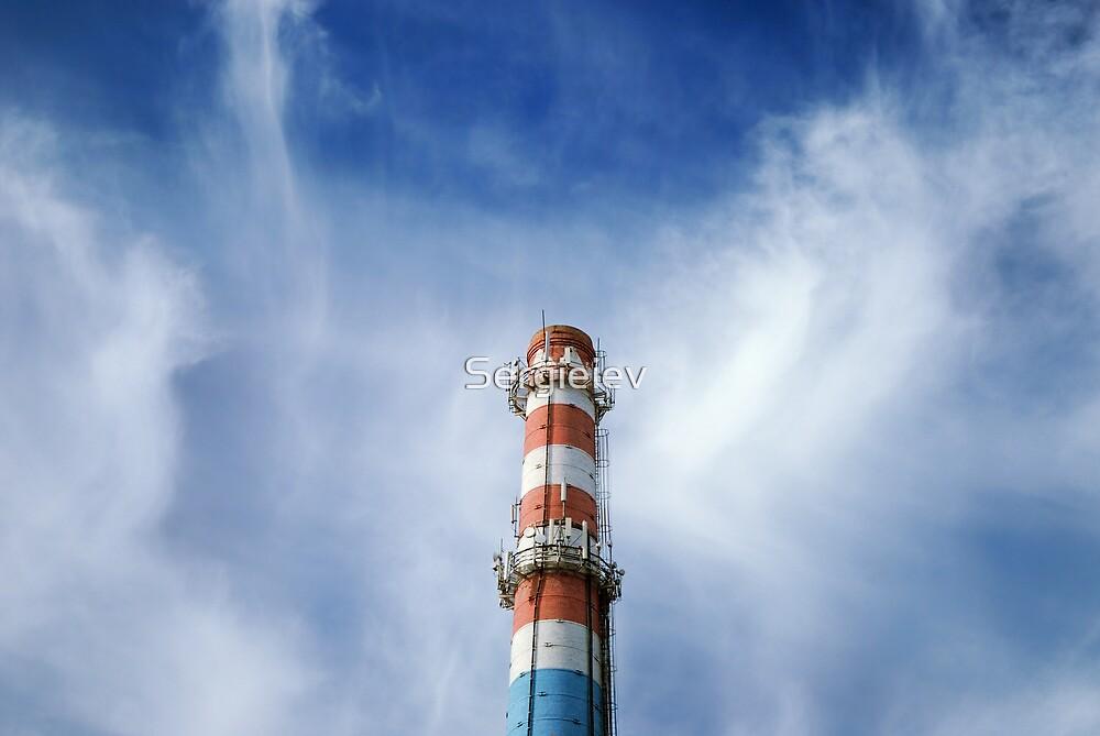 urban chimney-stalk  by Sergieiev