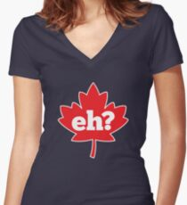 Eh? Canada Women's Fitted V-Neck T-Shirt