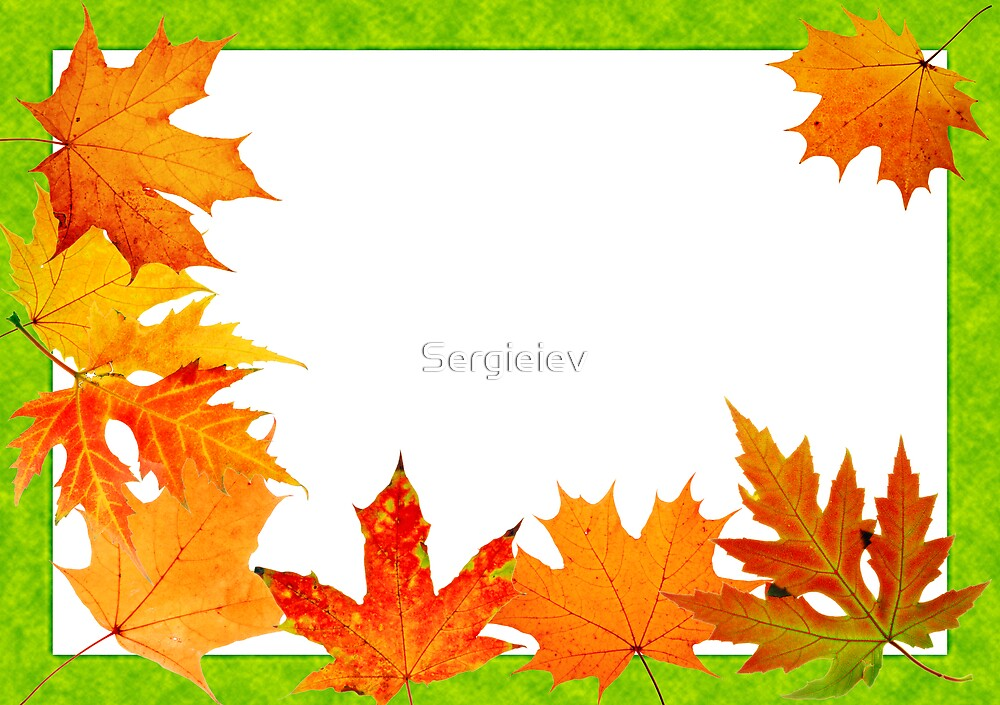 scope for a postal on a white background by Sergieiev