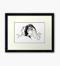 Elio and Oliver CMBYN Call me By Your Name line art Framed Print