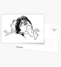 Elio and Oliver CMBYN Call me By Your Name line art Postcards