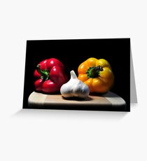 Garlic and Peppers Greeting Card