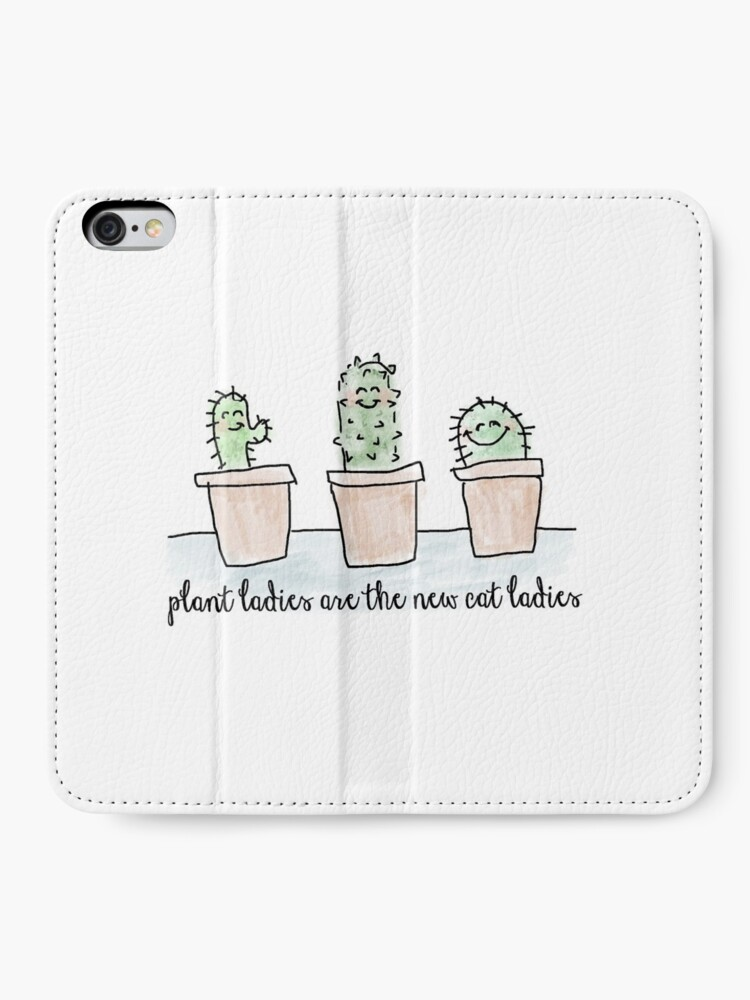 Alternate view of Plant Ladies are the New Cat Ladies  iPhone Wallet