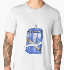 10th Doctor's Tardis, Sonic, and Saying Men's Premium T-Shirt