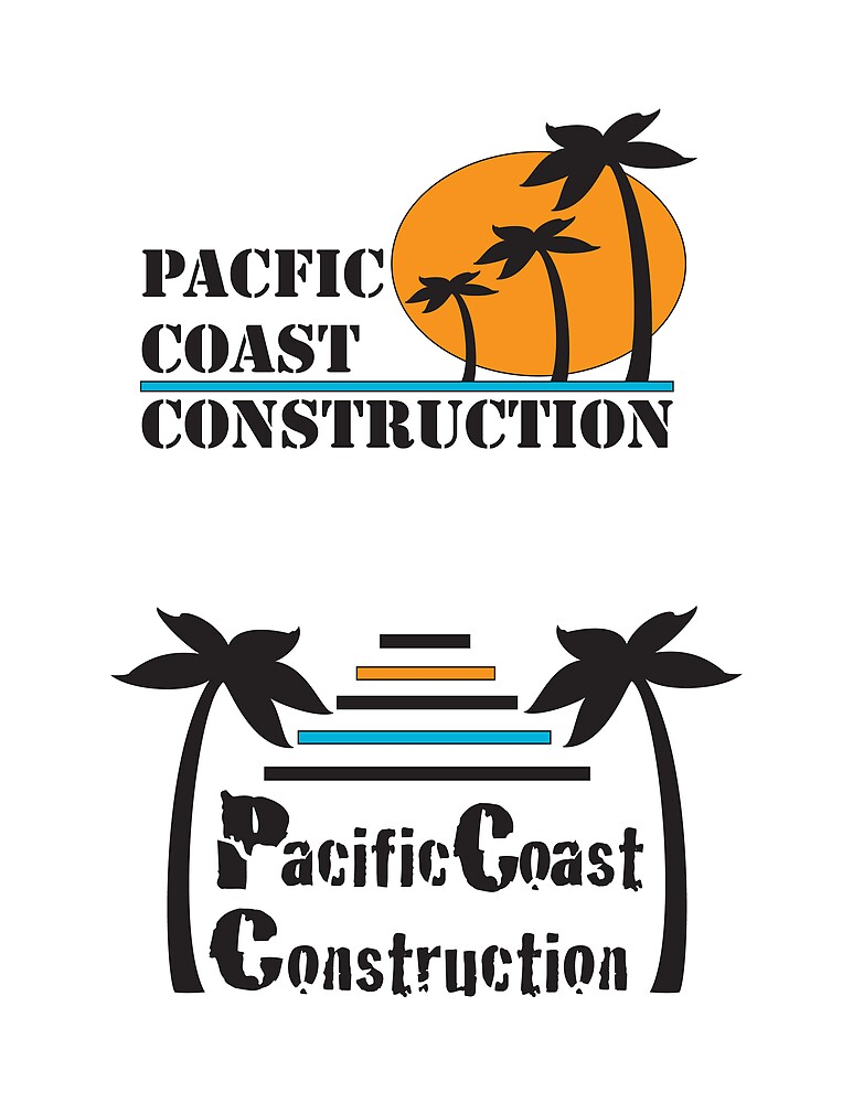 Pacific Coast Construction Logo by Natalie Smith