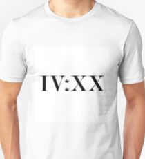 420 In Roman Numeral. IV:XX T-Shirt