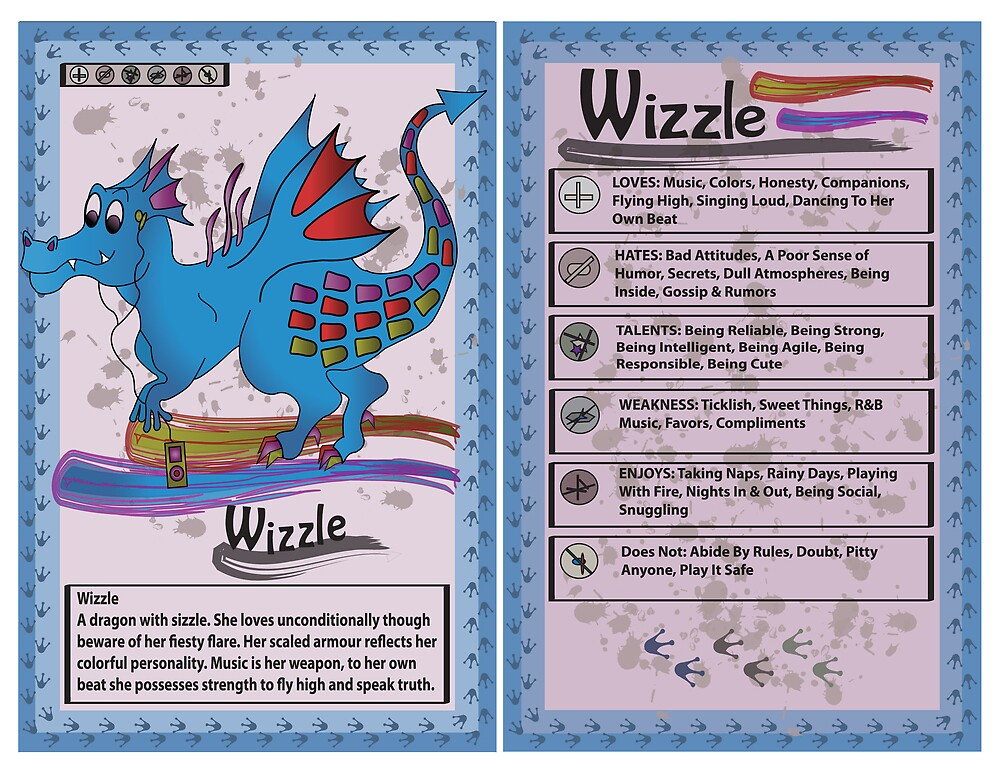 Dragon Trading Card by Natalie Smith